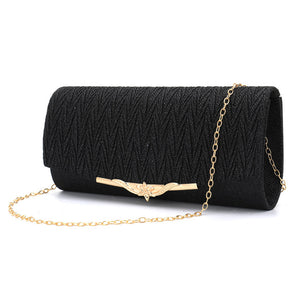 Brand Women Evening Bag 2019 Party Banquet Glitter Bag For Women Girls Wedding Clutches Handbag Chain Shoulder Bag