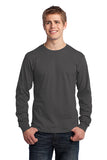 Custom - One Color Screen Print - Port & Company® - Long Sleeve Core Cotton Tee - PC54LS