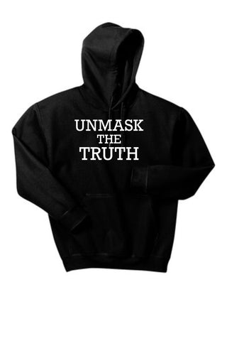 UNMASK the TRUTH Pullover Hooded Sweatshirt - FUNDRAISER
