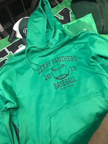 Derby Panthers Baseball Performance Hoodie 2019