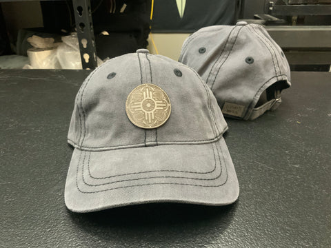 Wichita Flag Leather Patch Medallion Hat - variety of colors and styles