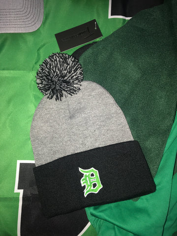 Derby 'Old English D' Pom Beanie