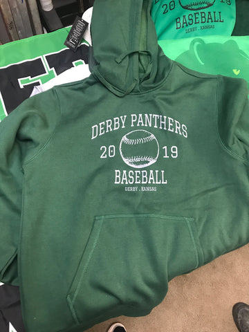 Derby Panthers Baseball Hoodie 2019
