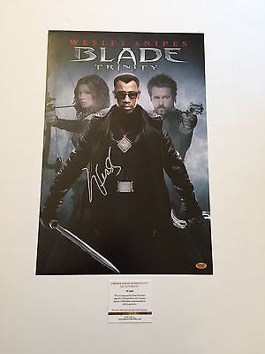 Blade Trinity Wesley Snipes Signed 12x18 Movie Poster Photo Lsc Witnes Luxury Sports Collectibles