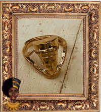 Load image into Gallery viewer, QUEEN LUXE Gold Adjustable Ring