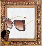 BROWN SUGAR BABE Oversized Sunglasses