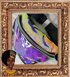 HANDS OFF Holographic PVC bag