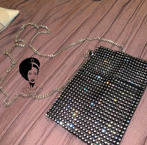 WILD SIDE Diamanté Phone Pouch