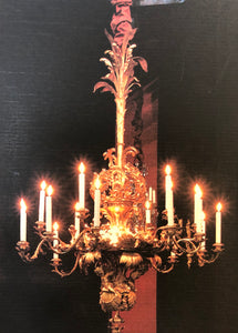 Antique Chandelier bronze doré XXL