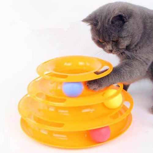 Pet CatS Toy Three Levels Tower Tracks Disc
