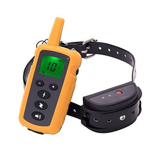 Electric Dog Training Collar Pet Remote Control  Rechargeable with LCD Display