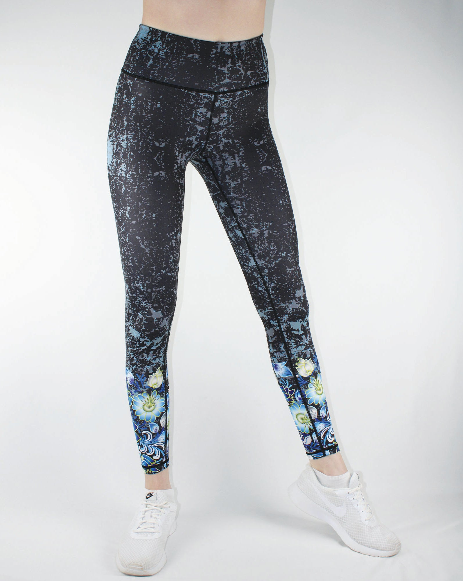DAISY FLOWER SCUPLT SUPERSOFT WOMEN'S LEGGINGS-INSPIRA COLLECTION
