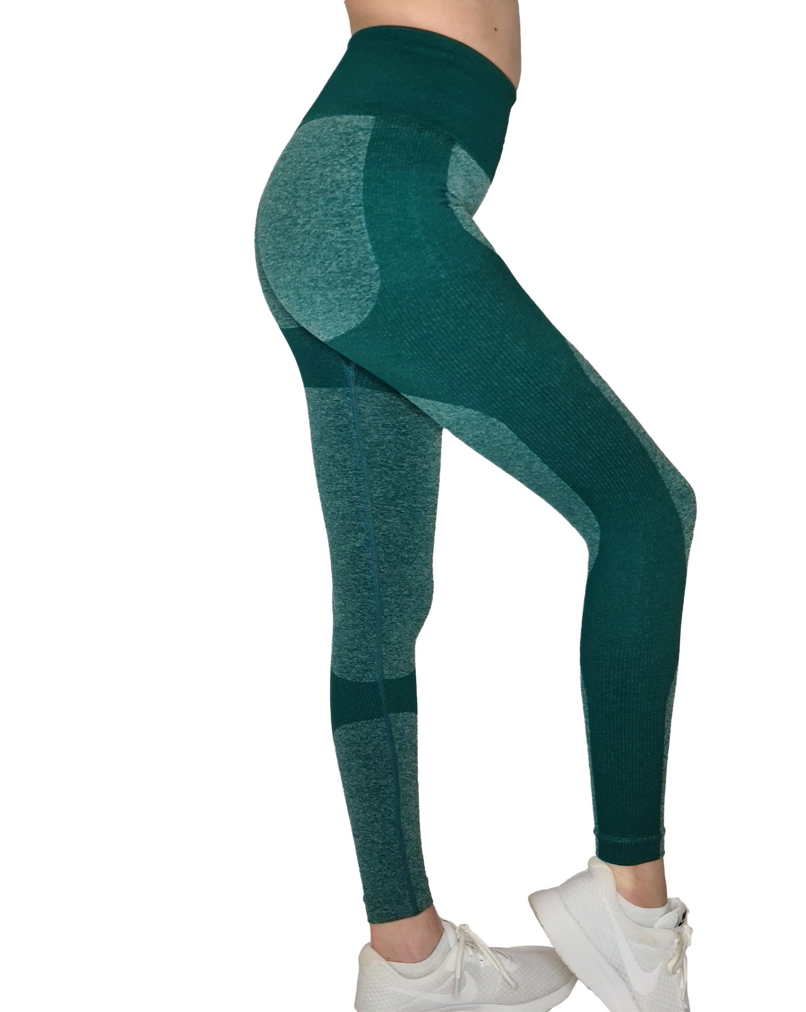 EVIE TEAL SEAMLESS HOME WORKOUT LEGGINGS-ARTEMIS CLASSIC COLLECTION