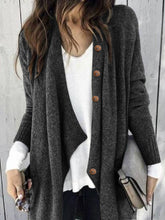 Load image into Gallery viewer, Buttoned Shawl Collar Knitted Casual Outerwear