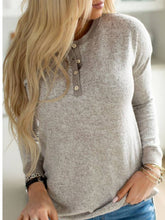 Load image into Gallery viewer, Apricot Long Sleeve Casual Buttoned Shirts & Tops