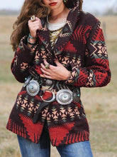 Load image into Gallery viewer, Plus size Long Sleeve Cotton-Blend Outerwear