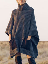 Load image into Gallery viewer, Turtleneck Women Casual Solid Sweater
