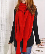 Load image into Gallery viewer, Crochet Sweater-Scarf With Sleeves