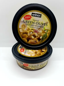 Krinos Green Olives stuffed with Garlic