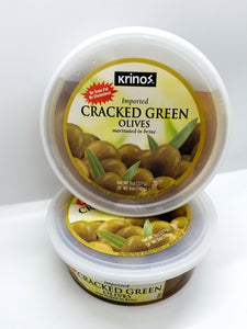 Krinos Green Cracked Olives