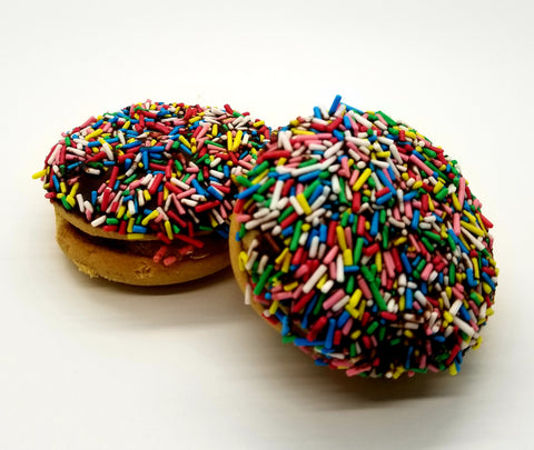 Round Cookies with colored sprinkles and filled with jam 1lbs