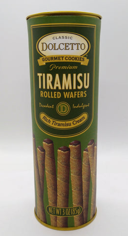 Dolcetto Rolled Wafers with Tiramisu Cream 85 gr / 3 oz