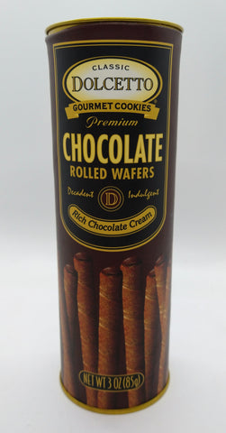 Dolcetto Rolled Wafers with Chocolate Cream 85 gr / 3 oz