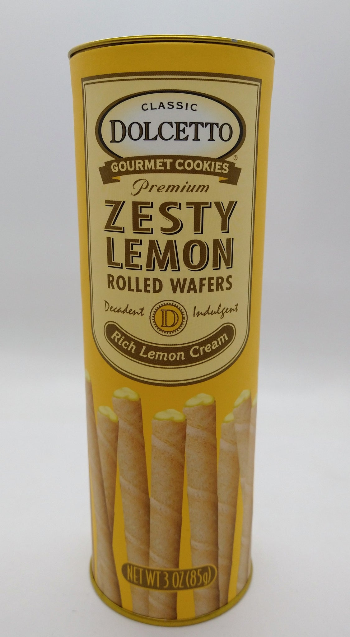 Dolcetto Rolled Wafers with Lemon Cream 85 gr / 3 oz