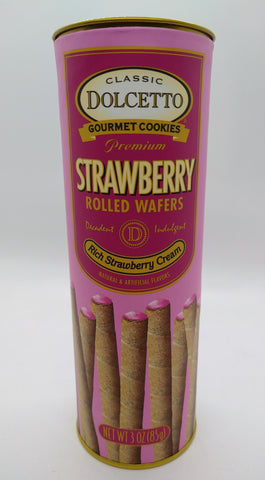 Dolcetto Rolled Wafers with Strawberry Cream 85 gr / 3 oz