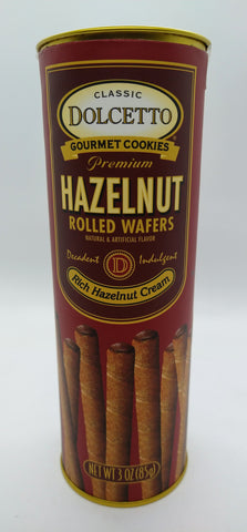 Dolcetto Rolled Wafers with Hazelnut Cream 85 gr / 3 oz