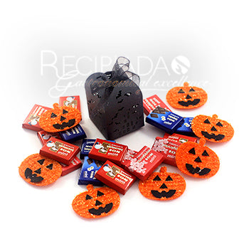 Halloween-Trick or Treat box filled with small chocolates