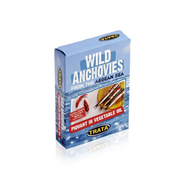 Trata Anchovies in Soybean Oil Piquant 3.5oz