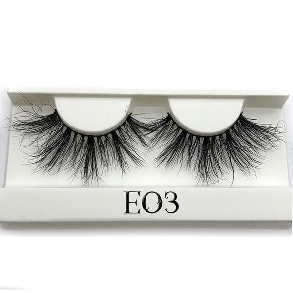 3D Mink Eyelashes Criss-cross Wispy 25mm Lash Extension