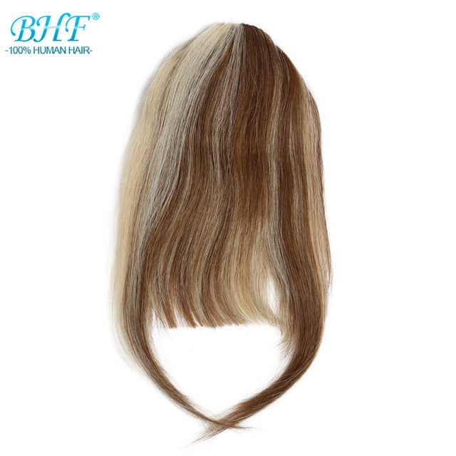Human Hair Bangs 8inch 20g clip in Straight Remy Natural Fringe