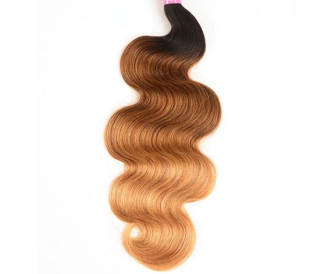 Ombre Hair Bundles Body Wave Bundles T1B/4/27 Peruvian  1PCS
