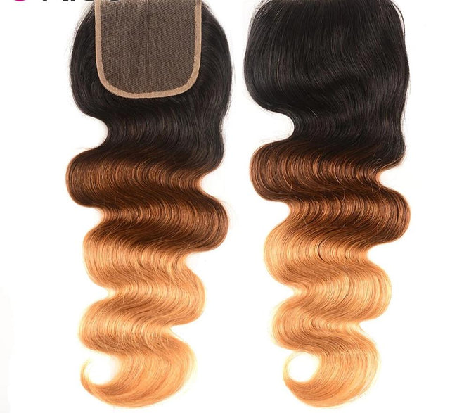 Brazilian Body Wave Lace Closure Free Part T1B/4/27 Lace Closure