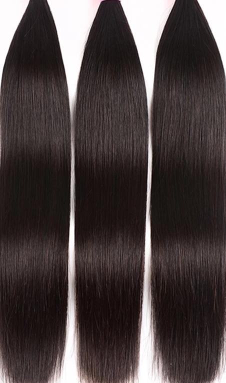 Malaysian Straight Hair Extension 1/3/4 Pieces