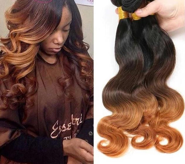 Ombre Body Wave Bundles Brazilian Hair
