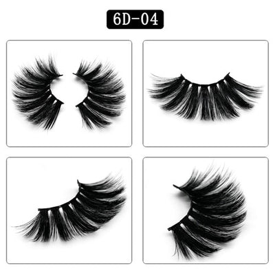 6D Eyelash 25 mm Mink Eyelashes & 5D Lashes 100% Mink Eyelashes