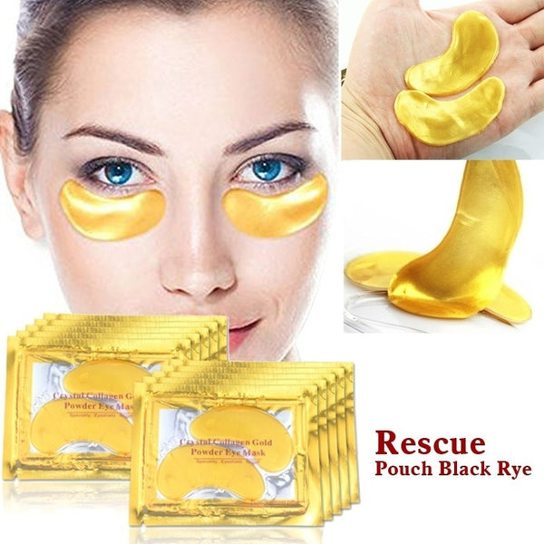 1PCS Gold Collagen 24k Gold Serum Eye Patches Dark Circle Puffiness Anti-Aging
