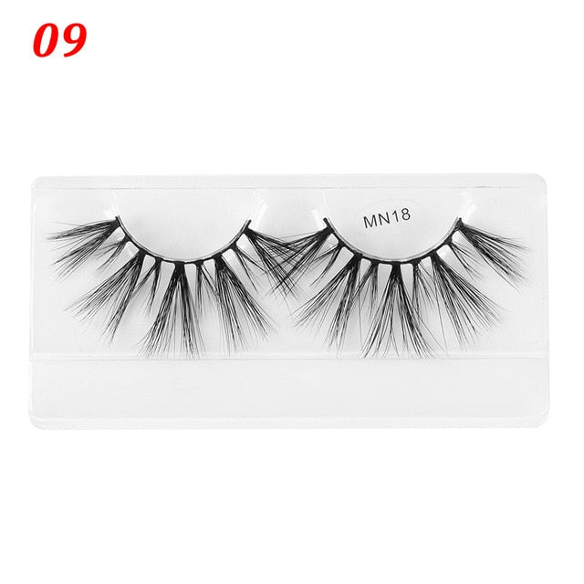 3D Mink Eyelashes Long Wispies