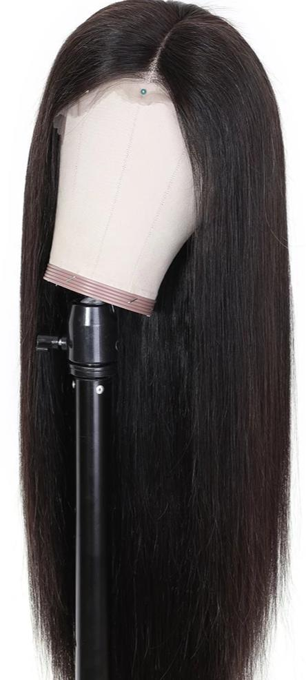 13x4/6 Straight Lace Front Human Hair Pre Plucked Wig
