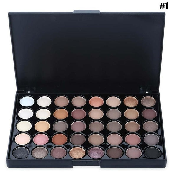 40 Colors Smoky/warm Matte Glitter Eye shadow Pallete