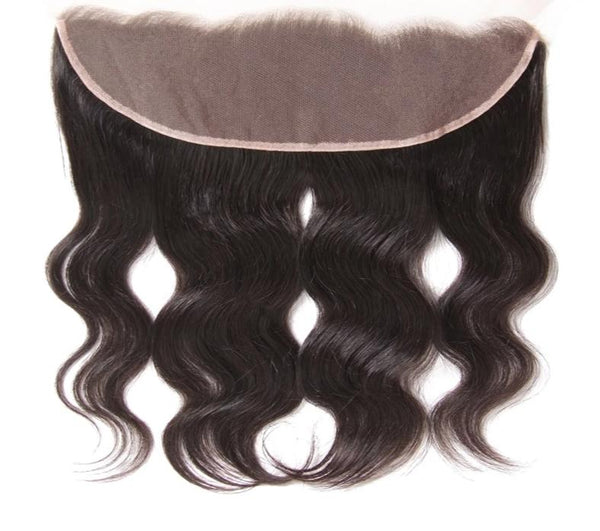 "Brazilian Body Wave Lace Frontal Free Part Ear to Ear Closure Size 13""x4"""