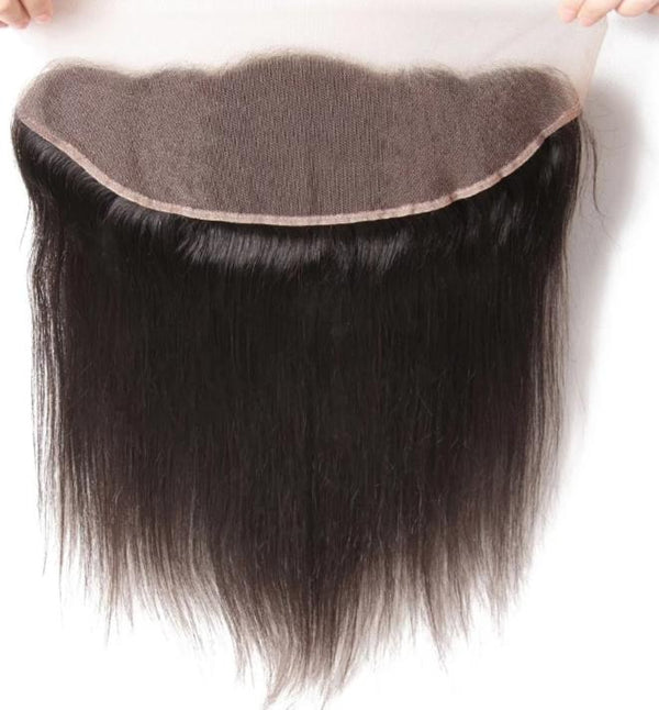 "Straight Brazilian Hair Lace Frontal 13""x4""Free Part Lace Closure 1 Piece"