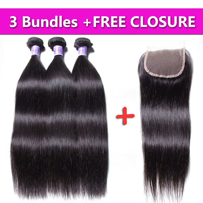 Kysiss Virgin Brazilian Straight Bundles 3PCS