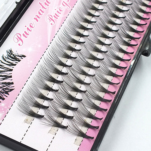 6/8/10/12/14mm 60 Pcs Eyelashes Extensions