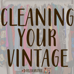 Cleaning Vintage Clothes