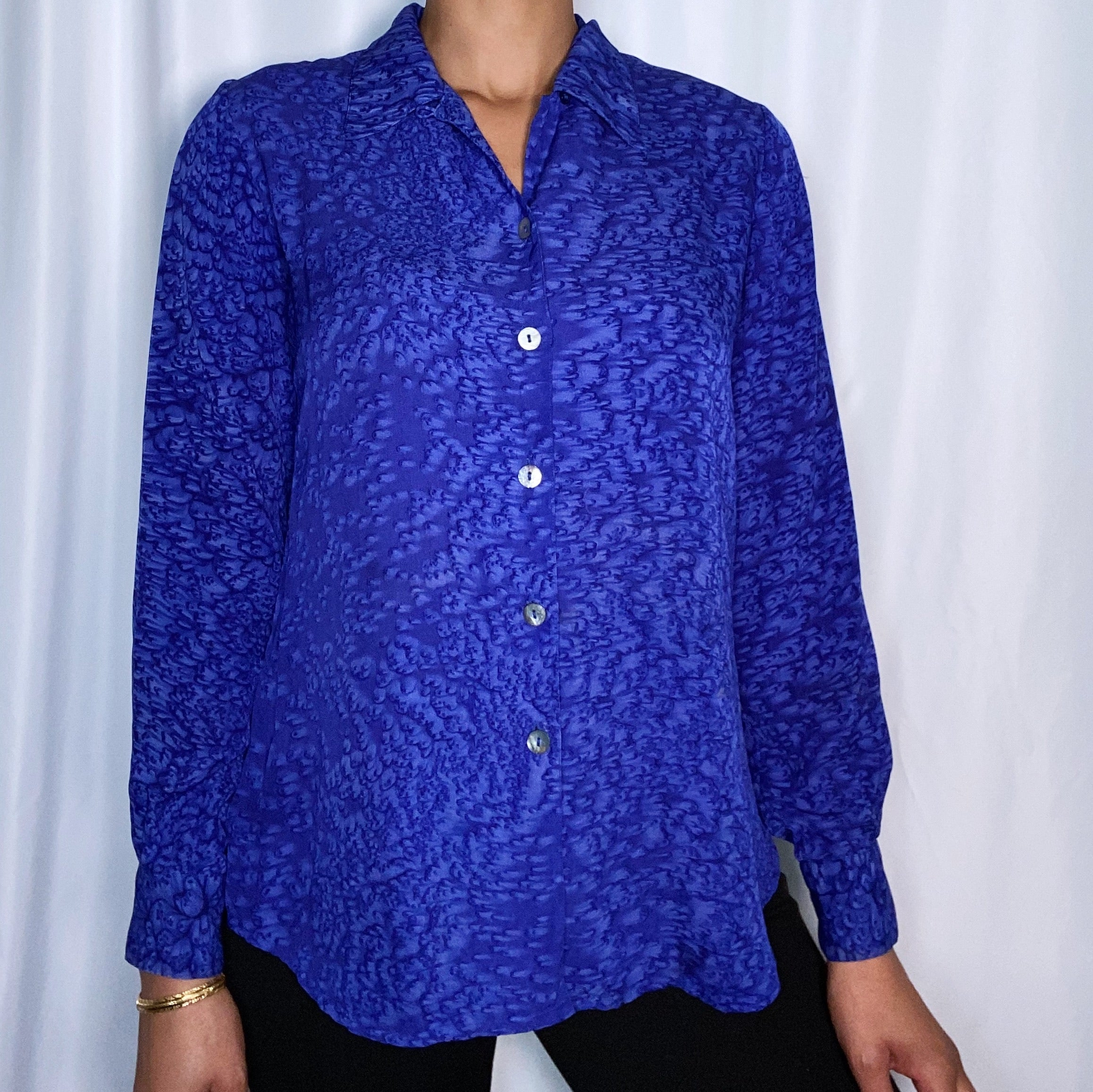 Vintage Tess Silk Top (size small)