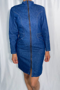 Vintage La Redoute Denim Dress (size 9/10, see measurements)